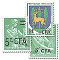 n° 342/352A -  Timbre Réunion Poste