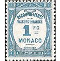 nr. 27 -  Stamp Monaco Revenue stamp