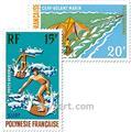 n.o 48 / 50 -  Sello Polinesia Correo aéreo
