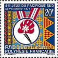 n.o 45 -  Sello Polinesia Correo aéreo