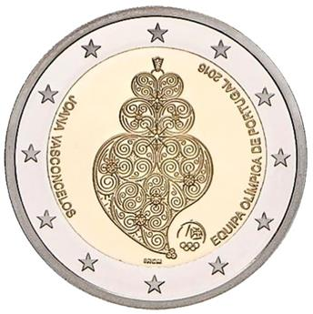 2 EURO COMMEMORATIVE 2016 : PORTUGAL (J.O. Rio 2016)
