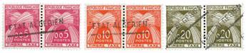 """3 timbres Fr. surchargés """"Etat Algérien"""" neufs** - Timbre Algérie Etat indépendant Taxe"""