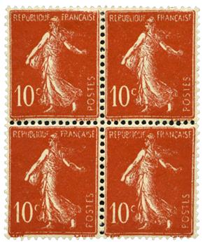 n°135** (2 ex*) - Timbre France  Poste