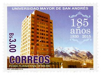 n° 1582 - Timbre BOLIVIE Poste
