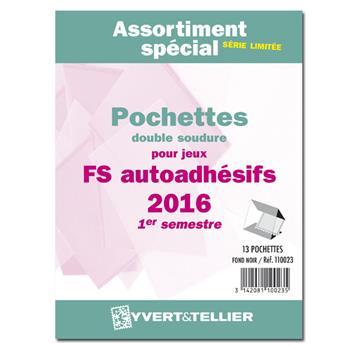 Assortiment de pochettes (double soudure) : 2016-1e sem. (Jeux Autoadhésifs)
