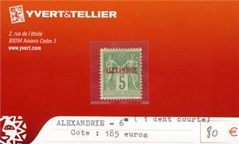 ALEXANDRIE - n° 6*