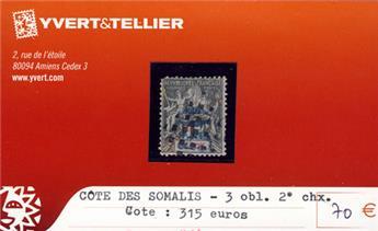COTE DES SOMALIS - n° 3 Obl.