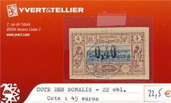 COTE DES SOMALIS - n° 22 Obl.