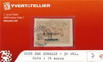COTE DES SOMALIS - n° 30 Obl.