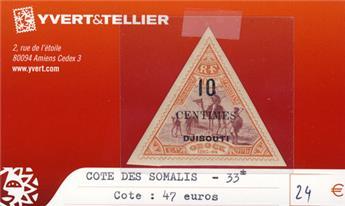 COTE DES SOMALIS - n° 33*