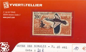 COTE DES SOMALIS - PA n° 28 Obl.