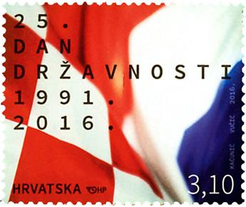 n° 1142 - Timbre CROATIE Poste