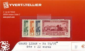 GRAND LIBAN - PA n° 75/78*