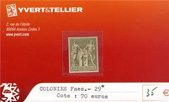 COLONIES FRANCAISES - n° 29*