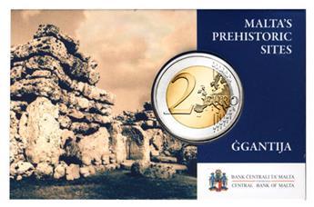 2 EUROS COMMEMORATIFS 2016 : MALTE (Coin card Temples Ggantija)