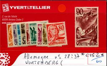 ALLEMAGNE (WURTEMBERG) - n° 28/37*