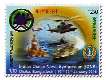 n° 1027 - Timbre BANGLADESH Poste