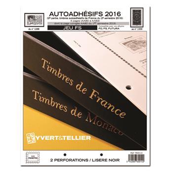 FRANCE AUTOADHESIFS FS : 2016 - 2EME SEMESTRE (jeux sans pochettes)