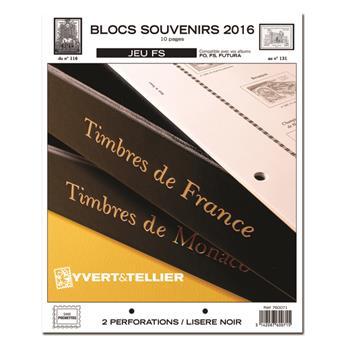 BLOCS SOUVENIRS FS : 2016 (jeux sans pochettes)