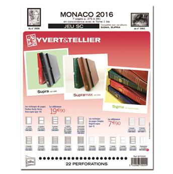 MONACO SC : 2016 (jeux avec pochettes)
