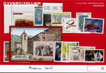 n° 763/776 -  Selo Andorra Ano completo (2014)