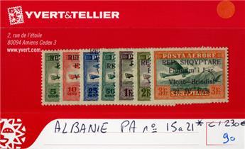ALBANIE - PA n°15/21*