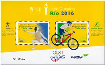 n° 48 - Timbre COSTA RICA Blocs et feuillets