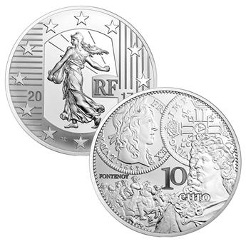 BE : 10 EUROS ARGENT - FRANCE 2017 - SEMEUSE
