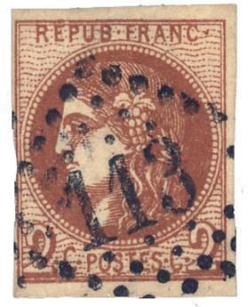 France : n°40Bf obl. B/TB