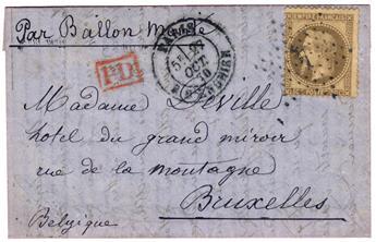 """France : Ballon Monté """"Le Colonel Charras"""" n°30 obl. TB"""