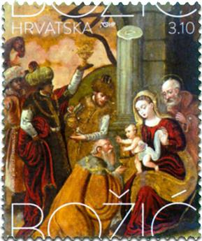 n° 1155 - Timbre CROATIE Poste