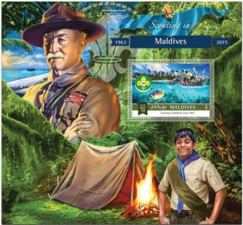 n° 847 - Timbre MALDIVES Blocs et feuillets