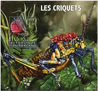 n° 899 - Timbre CENTRAFRICAINE Blocs et feuillets
