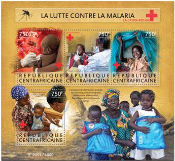 n° 3976 - Timbre CENTRAFRICAINE Poste