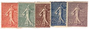 n°129/133* - Timbre France Poste