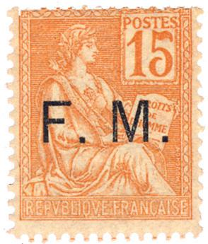n°1** - Timbre France Franchise Militaire