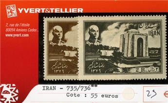 IRAN - n°735/736**