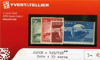 JAPON - n°429/432**