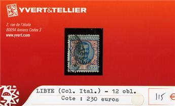 LIBYE (Col.Ital.) - n°12 obl.