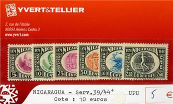 NICARAGUA SERV. - n°39/44+