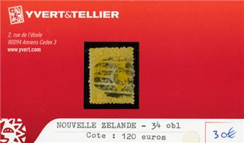 NOUVELLE-ZELANDE - n°34 obl.