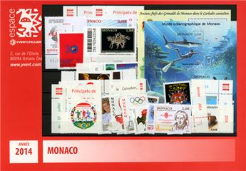 n° 2907/2951 - Timbre Monaco Année complète (2014)