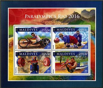 n° 5520 - Timbre MALDIVES Poste