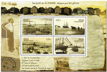 n° 14 -  Timbre Saint-Pierre et Miquelon Bloc et feuillets