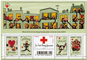 n° F4699 -  Timbre France Poste (Croix-Rouge 2012)