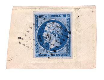 n°14Ae obl. TB - Timbre France Poste