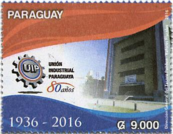 n° 3235 - Timbre PARAGUAY Poste