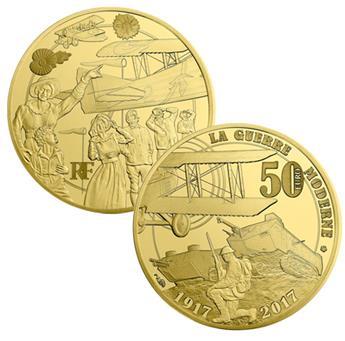 50 EUROS OR - FRANCE - GRANDE GUERRE 14-18 - 2017