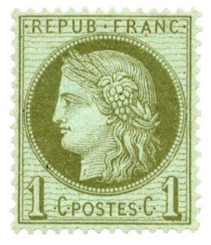 n°50* TB - Timbre FRANCE Poste