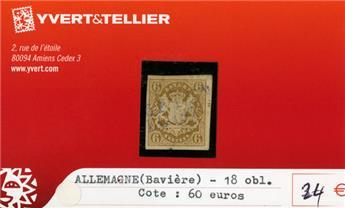 ALLEMAGNE BAVIERE - n°18 obl.